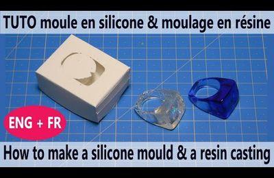 Tuto vidéo : faire un moule en silicone liquide et un moulage en résine