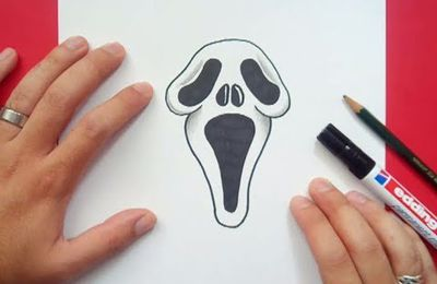 Como dibujar a Scream paso a paso - Scream
