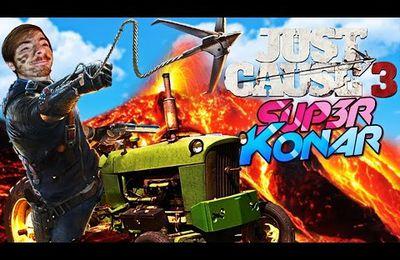 Faire du tracteur dans un volcan ! Just Cause 3