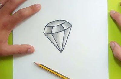 Como dibujar un diamante paso a paso 2
