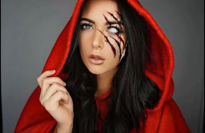 Le maquillage du petit chaperon rouge version Halloween