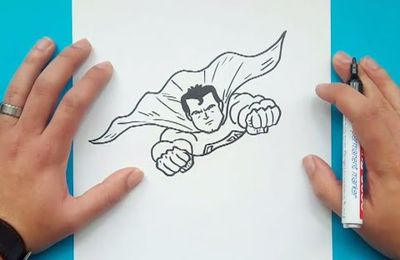 Como dibujar a Superman paso a paso - Superman