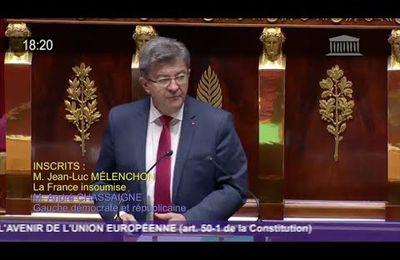 L'AVENIR DE L'EUROPE [Discours de Jean-Luc Mélenchon à l'Assemblée Nationale le 10 octobre 2017]