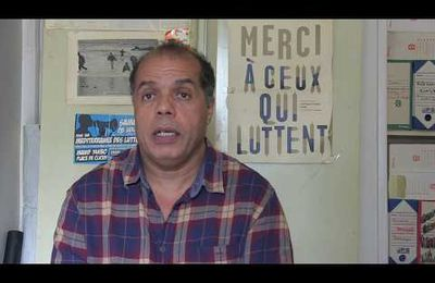 Vidéos pour la relaxe de Jean-Marc Rouillan. Annik Coupé, syndicaliste, Gaël Quirante, syndicaliste Sud PTT, Driss Elkherchi, militant de l'immigration.