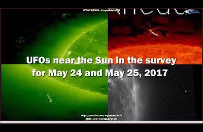 Ovnis & anomalies près du soleil le 24 & 25/05/2017 (video)