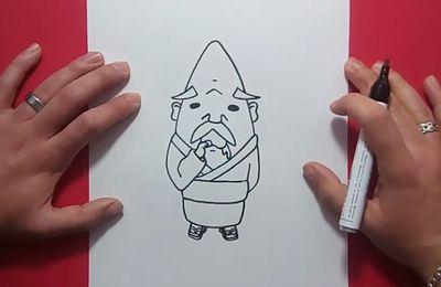 Como dibujar a Abuzampa paso a paso - Yo Kai Watch