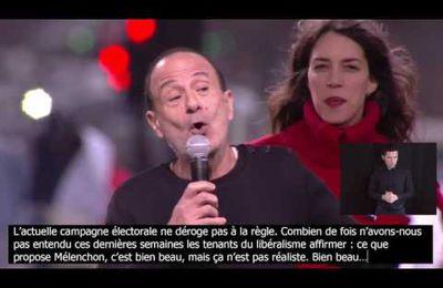 Prise de parole de Gérard Miller au défilé pour la 6e République