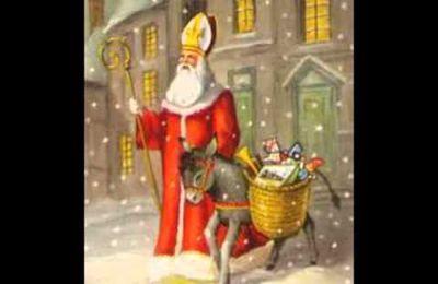 Saint Nicolas avec ton âne et tes cadeaux