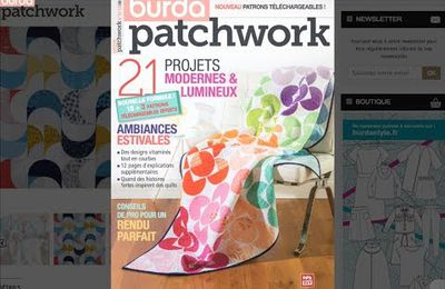 Le magazine Burda Patchwork Printemps à gagner...