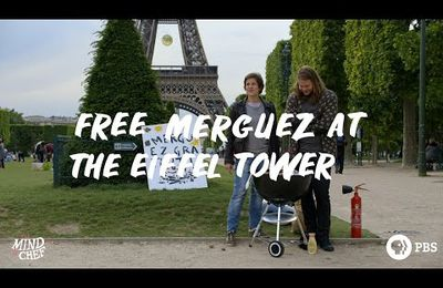 Free merguez debout at the Eiffel tower