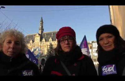 [vidéo] Pas un congé de moins ! Mobilisation à la mairie de Saint-Denis !