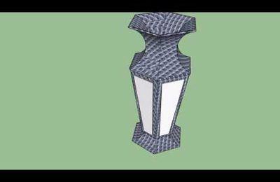 Modèle Sketchup: Vase hexagonal onix noir et albatre