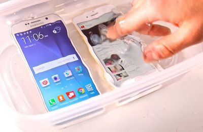 Samsung Galaxy S6 VS iPhone 6 Water Test! Etanche