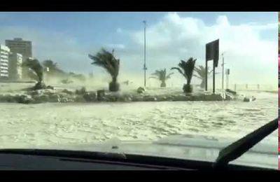 Tempête au Cap (Afrique du Sud)