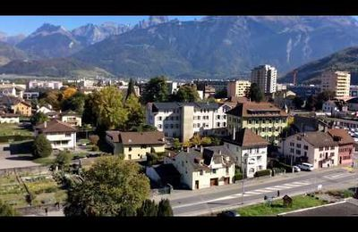 MONTHEY, panorama d'automne :...