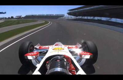 La  video du crash d'Helio Castroneves au 500 miles d'Indy