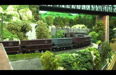 Train miniature HO Chalindrais ligne 2 (2ème réseau d'André Gay) vidéo 36