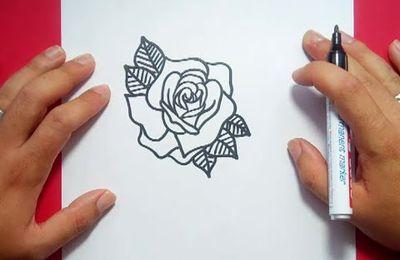 Como dibujar una rosa paso a paso 12