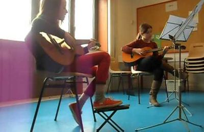 jessica et faustine jouent coldplay