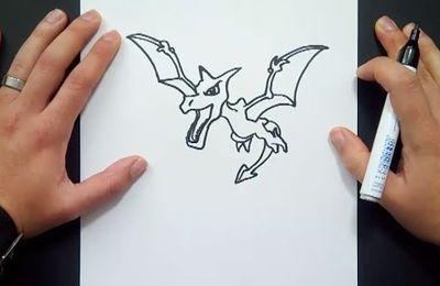 Como dibujar a Aerodactyl paso a paso - Pokemon