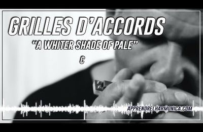 A whiter shade of pale - Grille d'accords - C