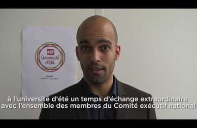 UNIVERSITE D'ETE DU PCF : la VIDEO