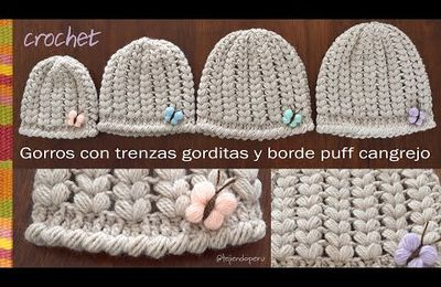 crochet : bonnet, point ananas (tutoriel gratuit - DIY)
