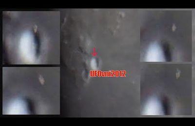 un amateur filme un énorme OVNI sortant du cratère Aristarque a petite vitesse sur la surface de la lune - juillet 2017 (video)