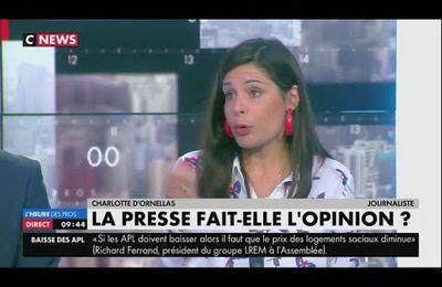 Charlotte d'Ornellas évoque les journalistes qui ne disent pas la réalité