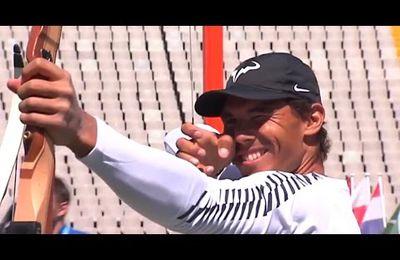 Vidéo RNKOT - Barcelona Open - Marc et Rafa au stade olympique, en tireurs à l'arc.....
