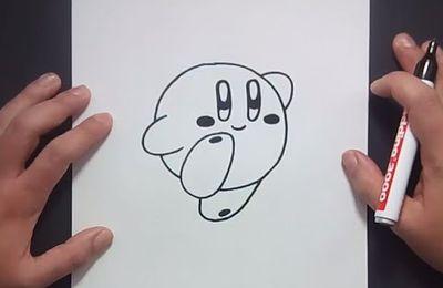 Como dibujar a Kirby paso a paso - Videojuegos Mario