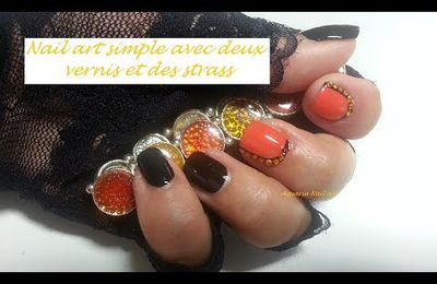 Petit Nail art simple avec strass