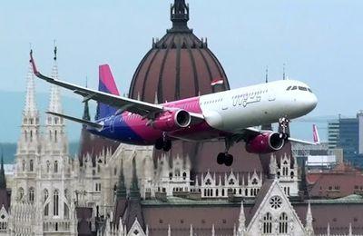 Un Airbus A-321 au-dessus de Budapest, mais alors juste au-dessus !