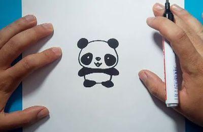 Como dibujar un oso panda paso a paso 4