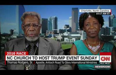USA : Entire black church in North Carolina endorsing Donald Trump