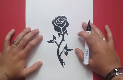 Como dibujar una rosa paso a paso 9