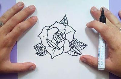 Como dibujar una rosa paso a paso 13