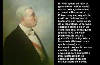 Reliquia Histórica: La Voz Original De Porfirio Diaz