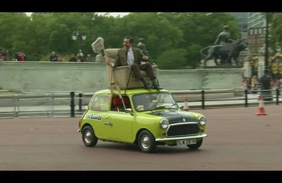 Mr Bean's surprise birthday party in London streets