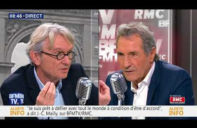 Jean Claude Mailly face à Jean Jacques Bourdin ...
