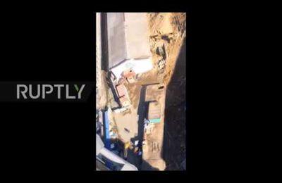 Russie : un énorme sinkhole avale la moitié d'une rue (Video media)