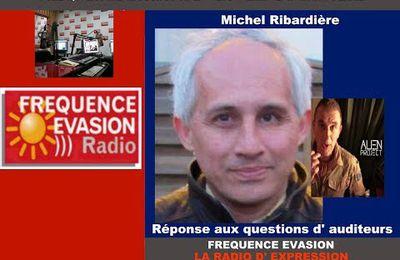 Michel Ribardière, ''Reliques du Pérou'', Questions des auditeurs, sur Fréquence Evasion