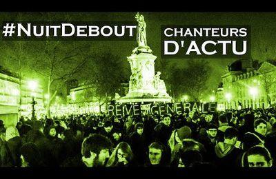 """3ème """"Nuit debout"""" place de la République pour protester contre la """"loi du travail"""" du gouvernement Hollande"""