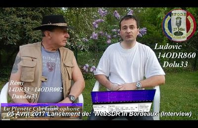 11-04-2017 Interview de Ludovic 'WebSDR in Bordeaux'