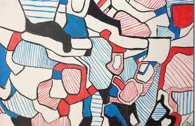 Dessin et peinture - vidéo 2066 : Peindre à la manière de Jean Dubuffet, le précurseur de l'art brut (1901-1985)..