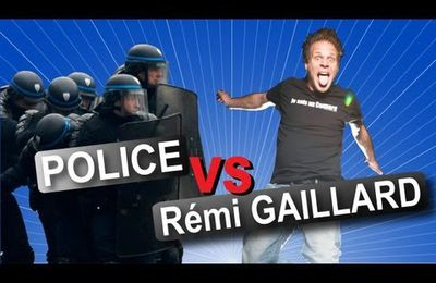 Rémi Gaillard se joue de rigole avec la police - vidéo gag