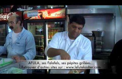 Streetfood - Les falafels les meilleurs sont de Galilée à Afula.