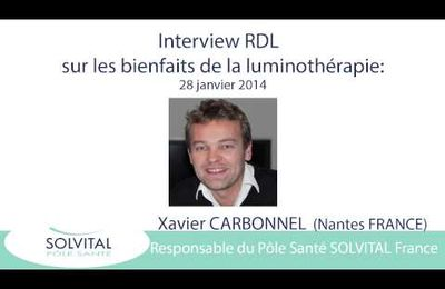 Luminothérapie : interview de Xavier Carbonnel, Solvital France