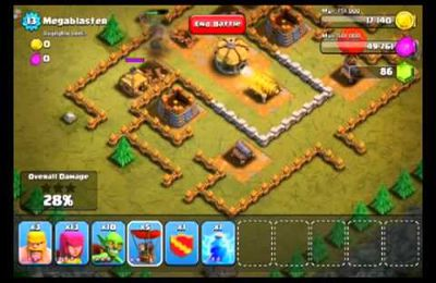 Clash of Clans Level 14 Mega degat