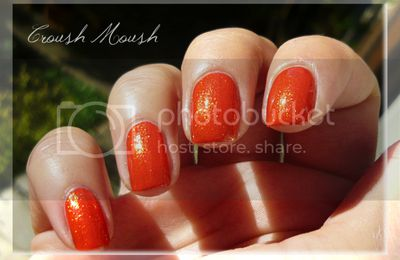 Mon nail art Halloween version potiron
